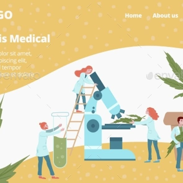 Laboratory Medicines From Cannabis Plant Web