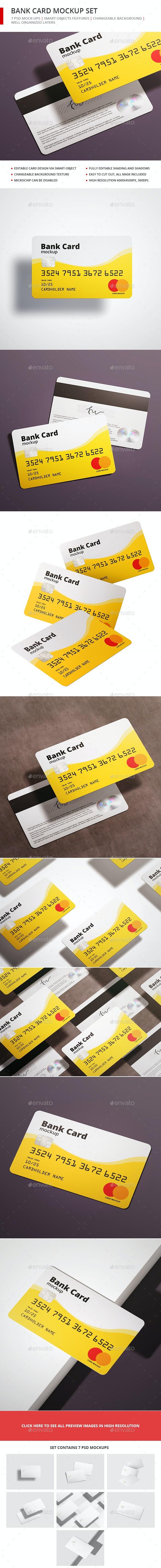 Bank Card / Membership Card Mockup - Business Cards Print