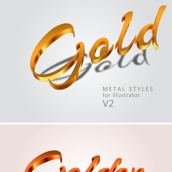 Metal Gold Text Effects V2