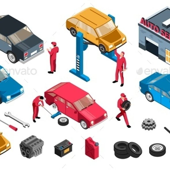 Auto Repair Icon Set