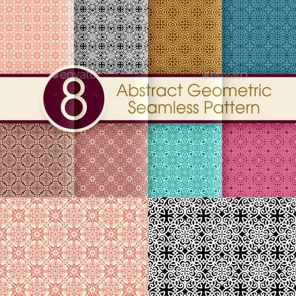Abstract Geometric Seamless Pattern Collection 003