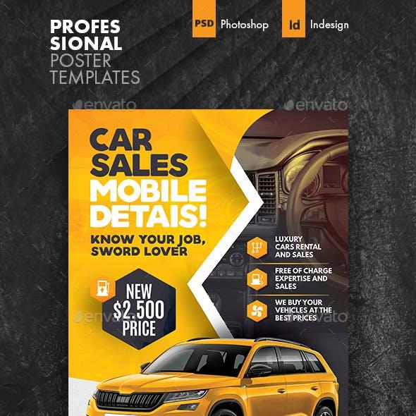 Car Sales Poster Templates