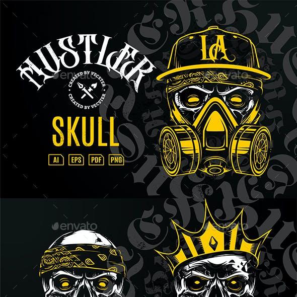 Hustler Skull Vector Art