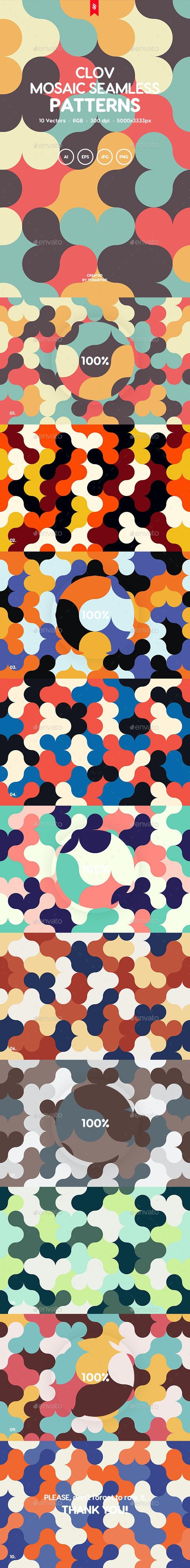 Clov - Retro Mosaic Backgrounds - Patterns Backgrounds