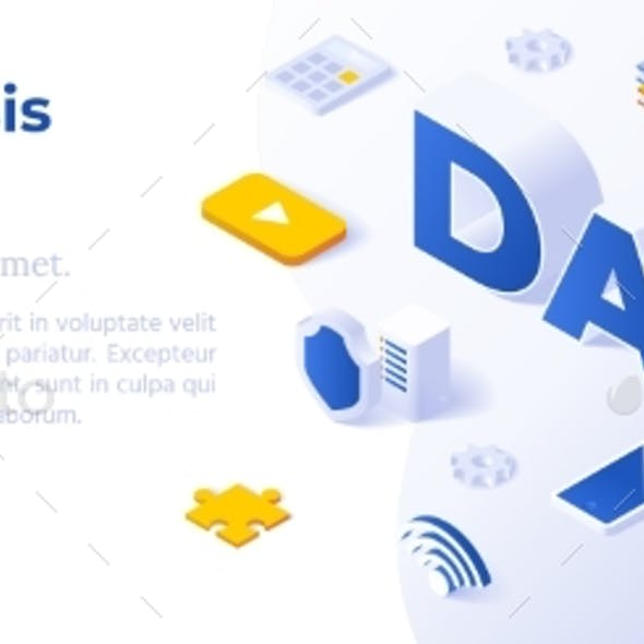 Data - Banner Layout Template for Website