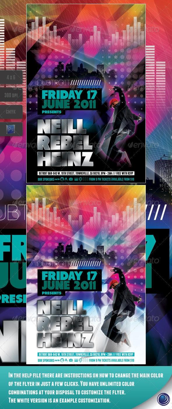 Modern Music Flyer Template - Clubs & Parties Events