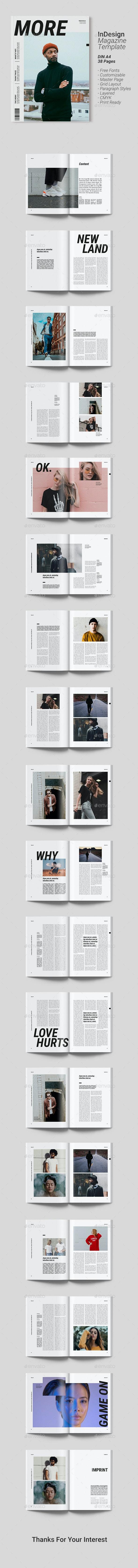 Magazine Template | More - Magazines Print Templates