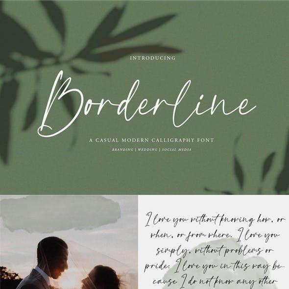 Borderline Calligraphy Font