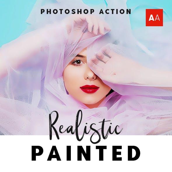 Realistic Painted Art - Oil Paint Photoshop Action