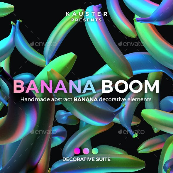 Banana Boom Decorative Elements