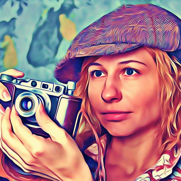 Magic Portrait Oil Paint Action