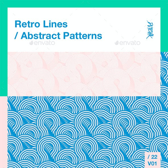 Retro Lines / Abstract Patterns / V01
