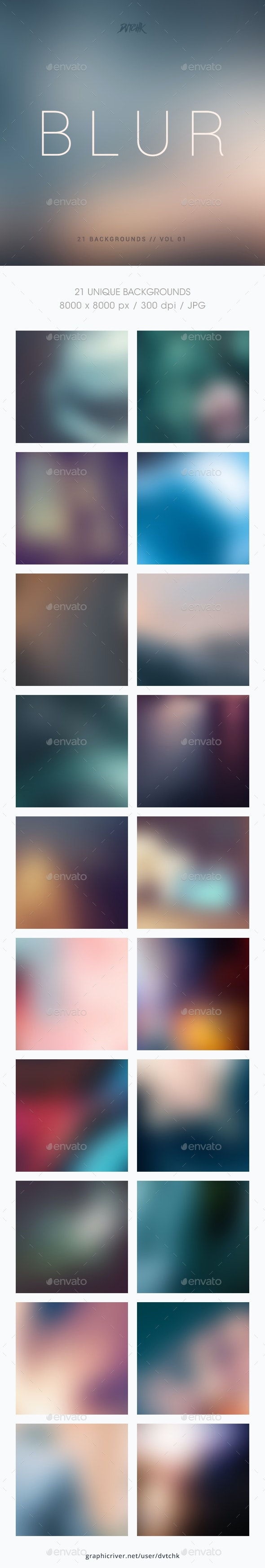 Blur | Smooth Backgrounds | Vol. 01 - Abstract Backgrounds