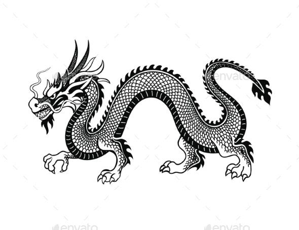 Tradition Asian Dragon Illustration - Miscellaneous Vectors