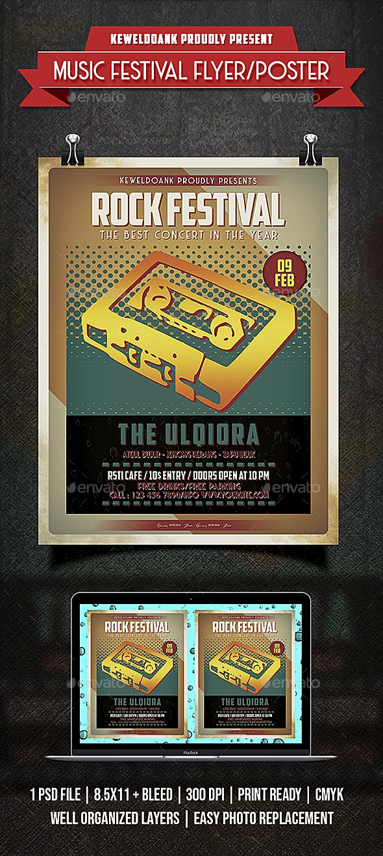 Rock Festival Flyer / Poster - Concerts Events
