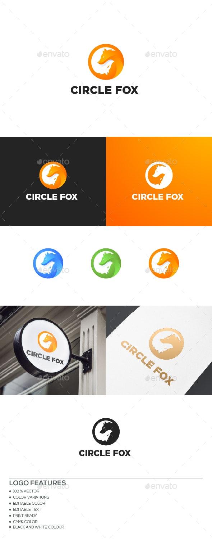 Circle Fox logo - Animals Logo Templates
