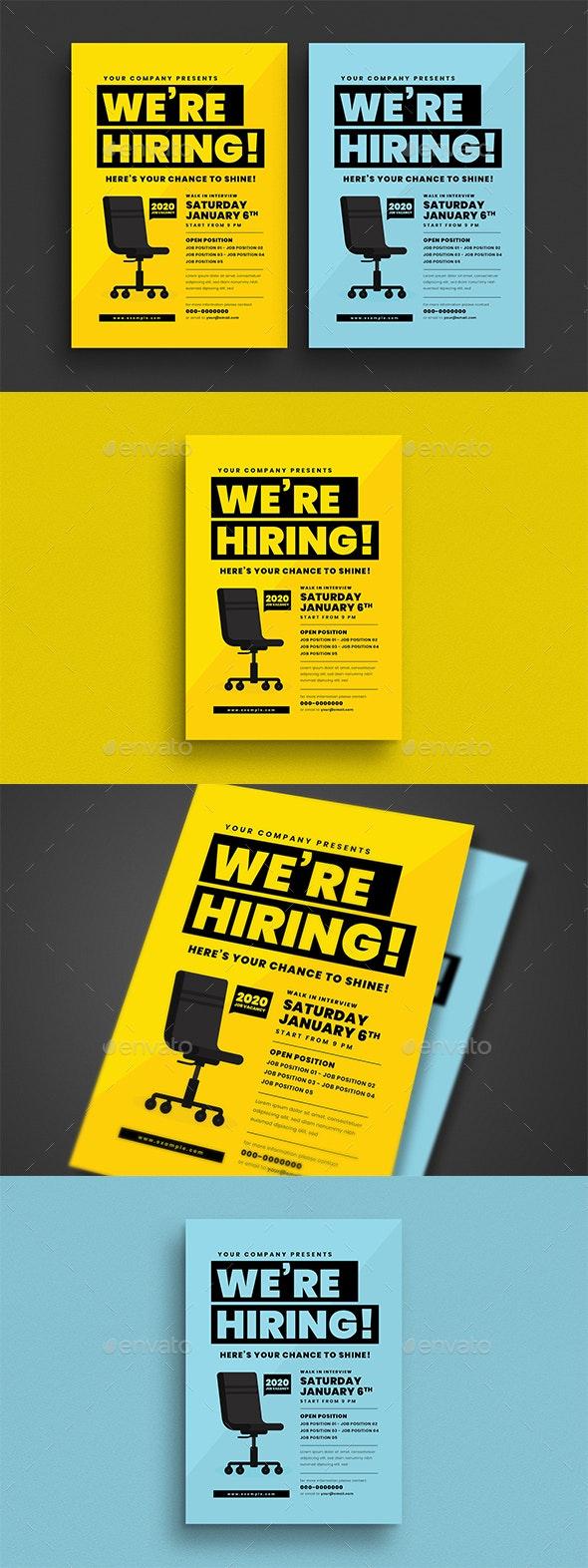 Job Vacancy Flyer - Flyers Print Templates