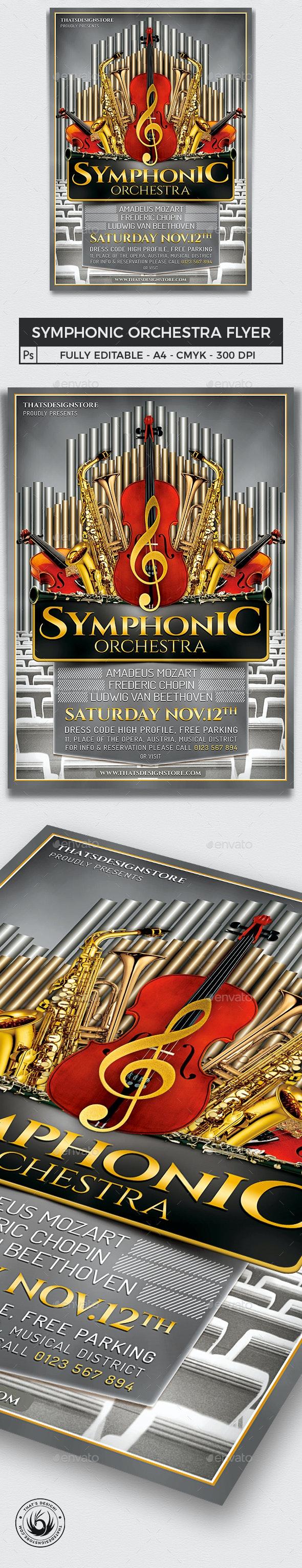 Symphonic Orchestra Flyer Template V1 - Concerts Events