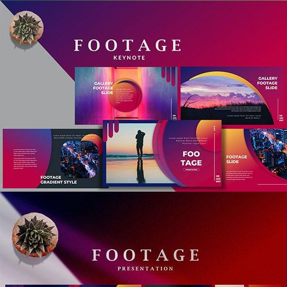 Footage Gradient - Beautiful Creative Keynote Template