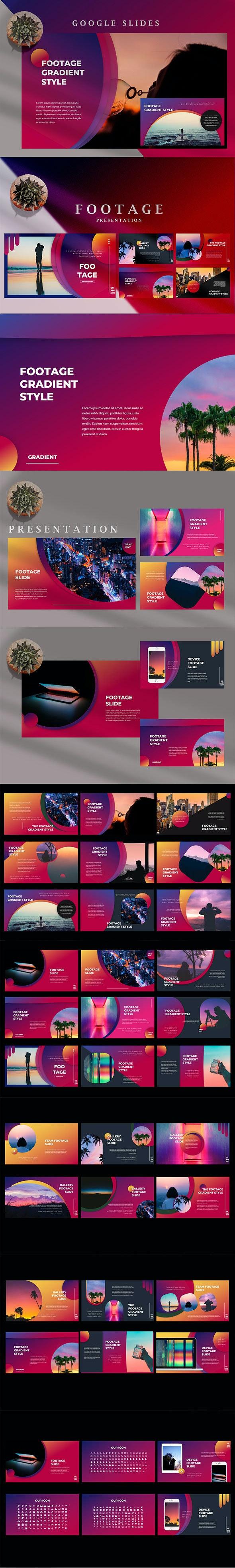 Footage Gradient - Beautiful Creative Google Slides - Google Slides Presentation Templates