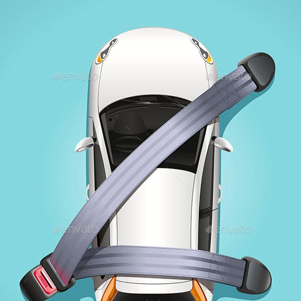 Safety Car Seat Belts Concept