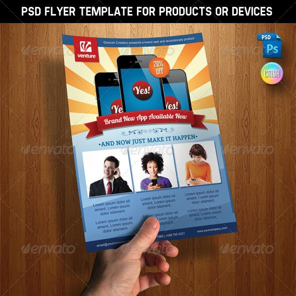 PSD Product Flyer Template