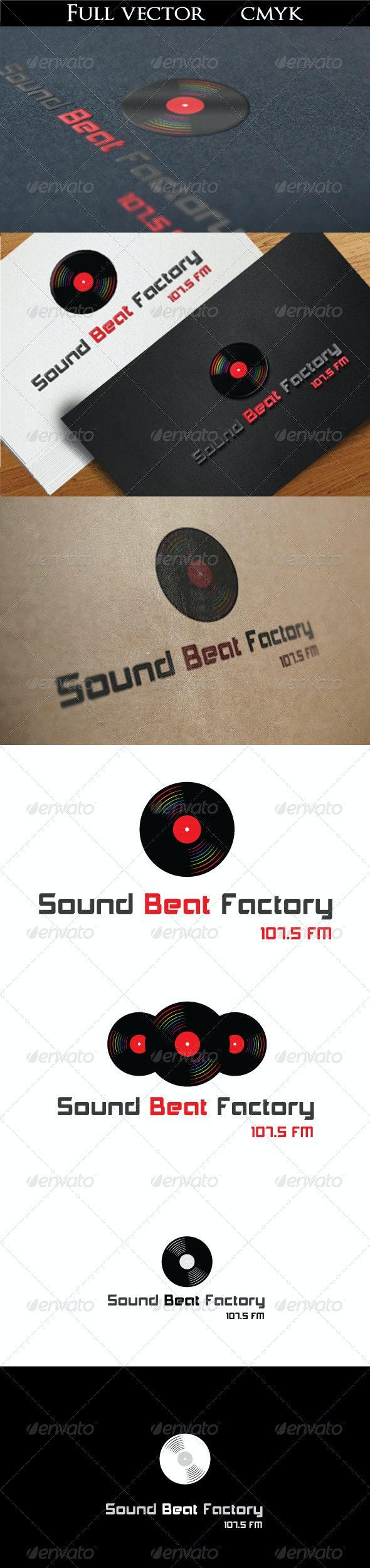 Sound Beat Factory Logo - Objects Logo Templates