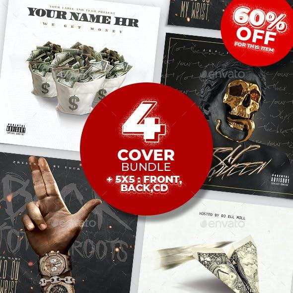 Album CD Mixtape Cover Template Bundle