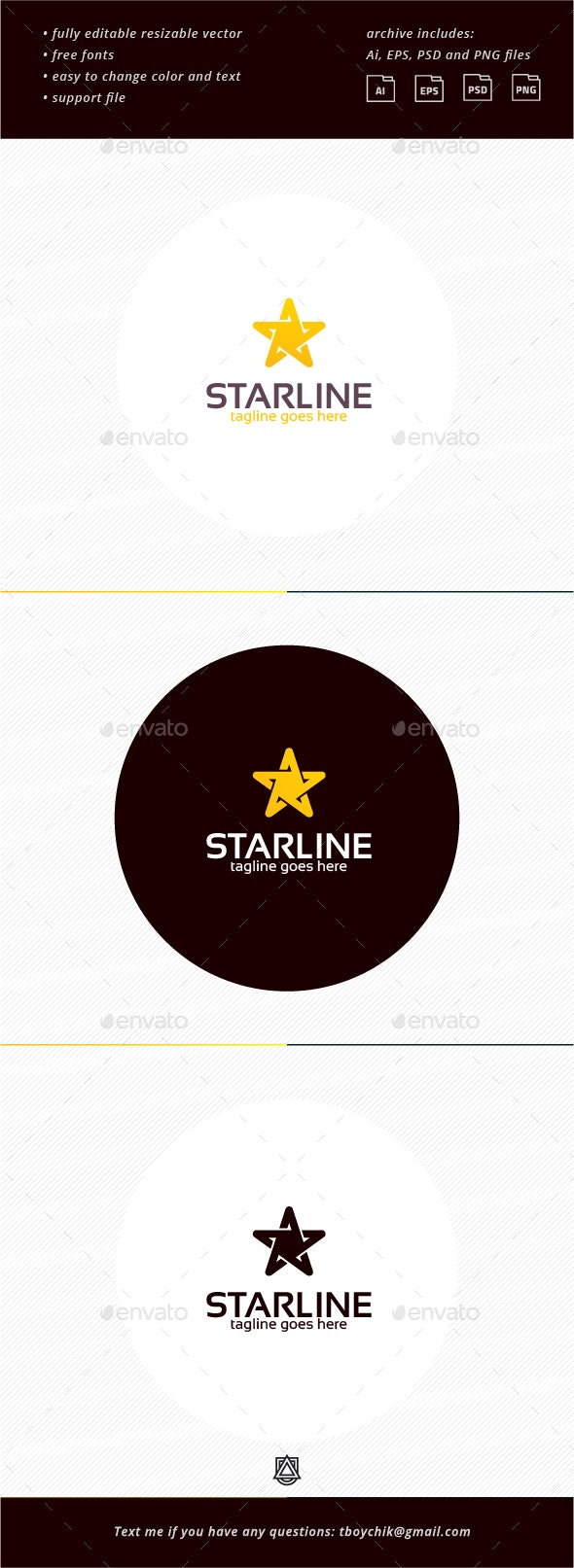 Star Line Logo - Objects Logo Templates