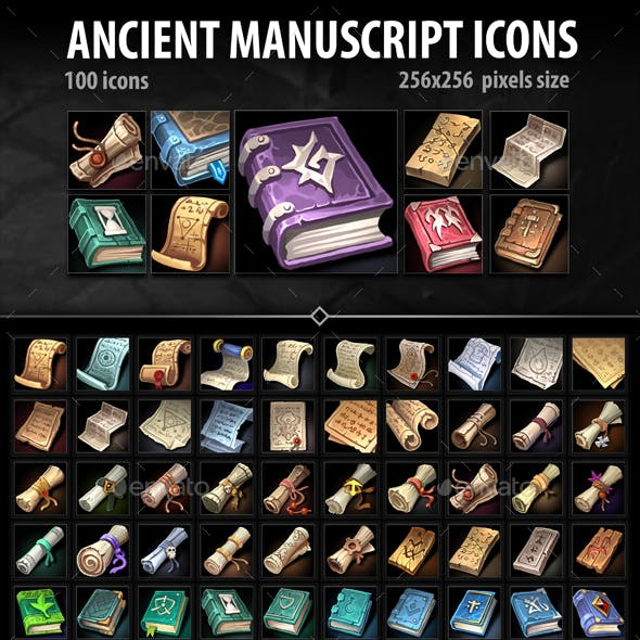 Ancient Manuscript Icons
