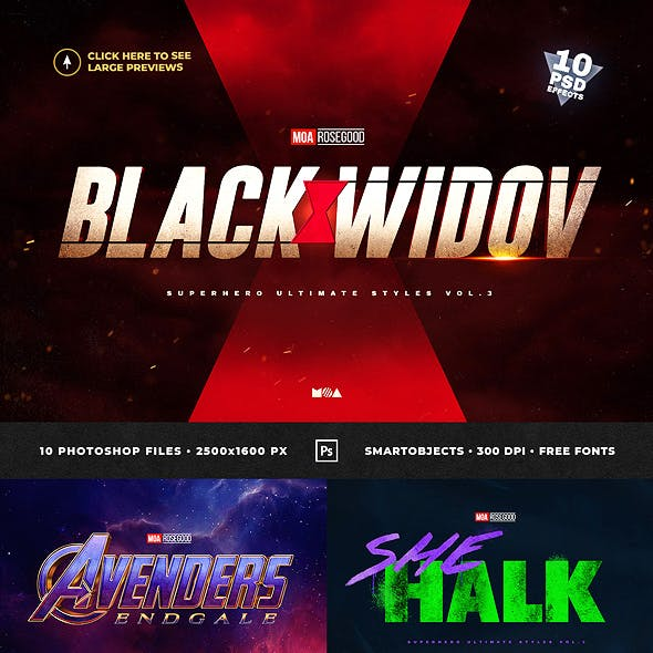 Superhero Ultimate Text Effects vol.3