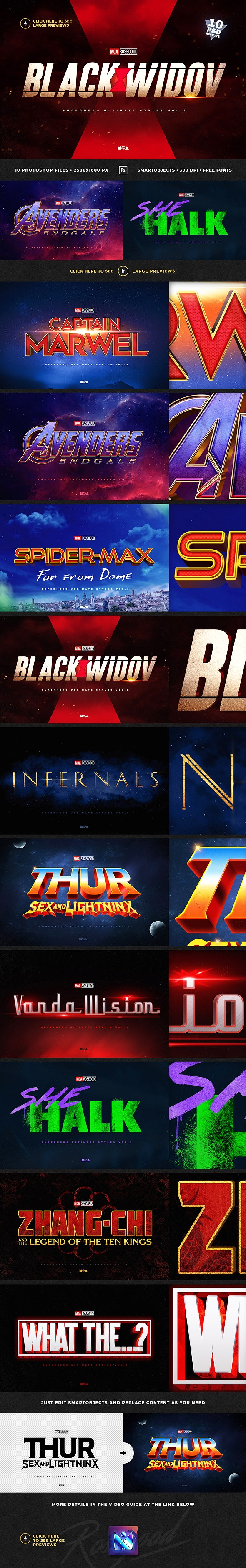 Superhero Ultimate Text Effects vol.3 - Text Effects Actions