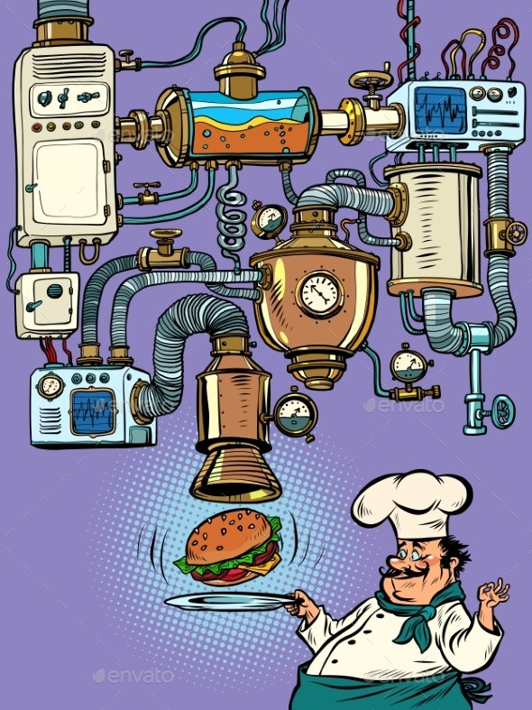 Machine Conveyor Complex Apparatus Funny - Food Objects