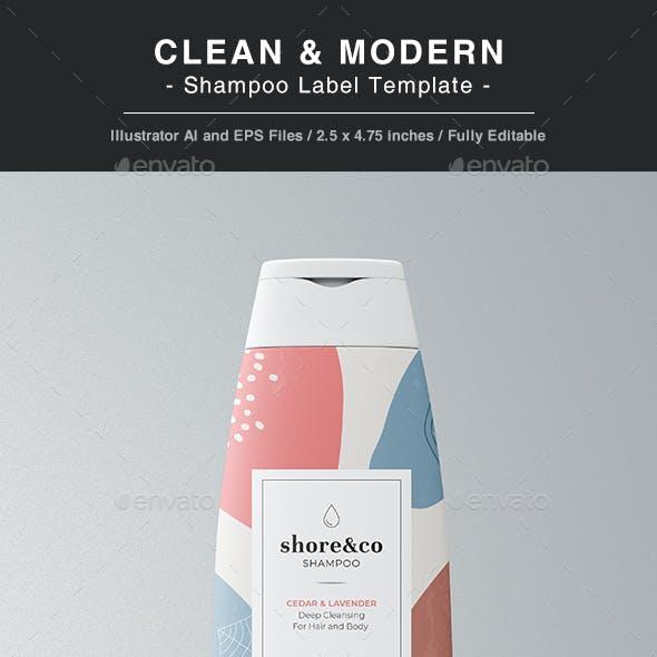 Shampoo Label Template