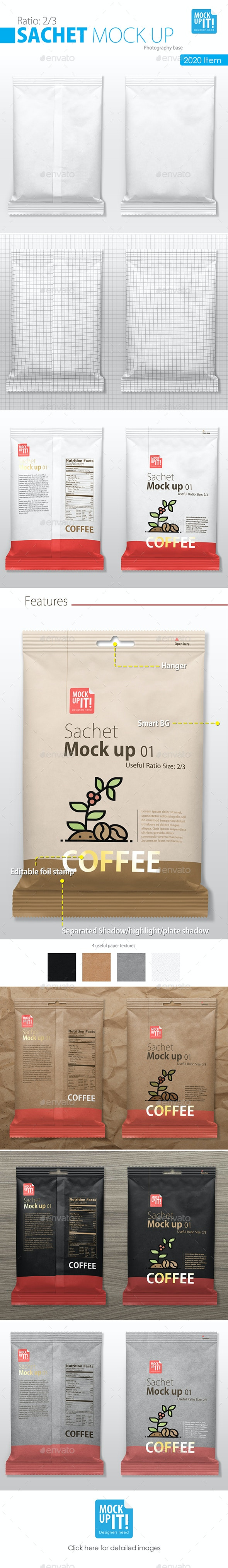 Sachet Mockup - Food and Drink Packaging