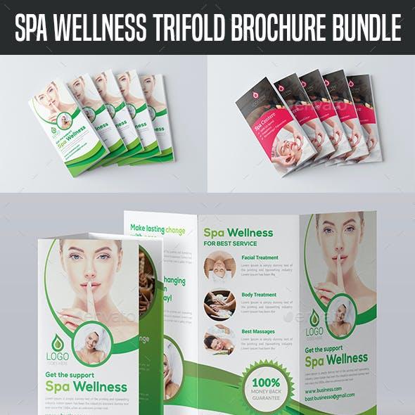 Spa Wellness Trifold Brochure Bundle