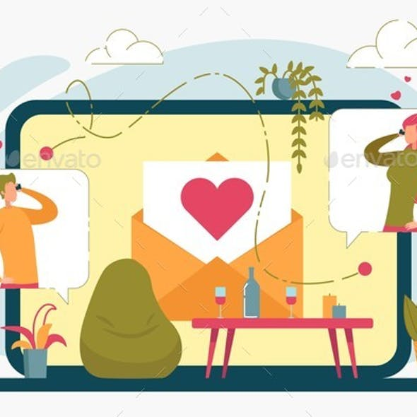 Online Dating Internet Services with Vector People