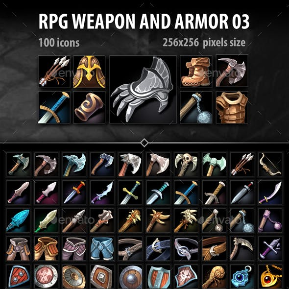 RPG Weapon and Armor 03