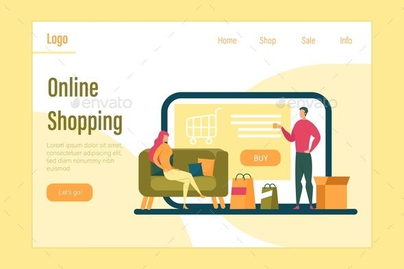 Online Shopping Buying In Internet Store Banner By Fivestarspro Graphicriver