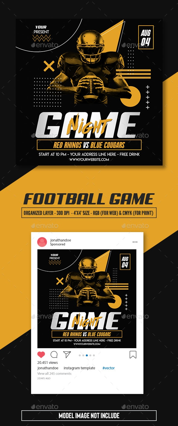 Football Game Flyer Template - Sports Events