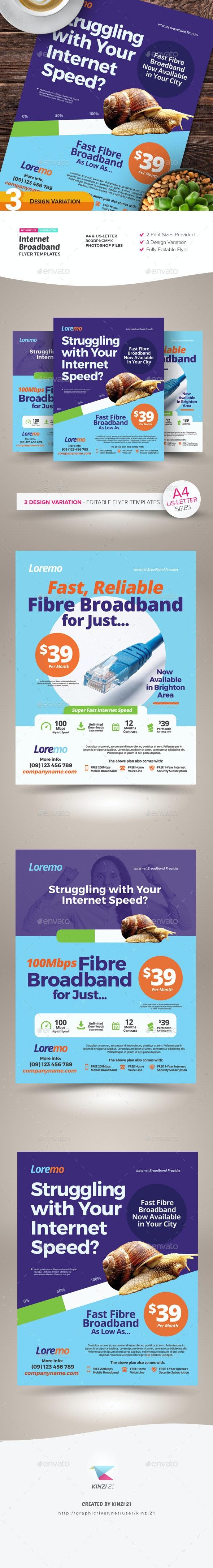 Internet Broadband Flyer Templates - Corporate Flyers