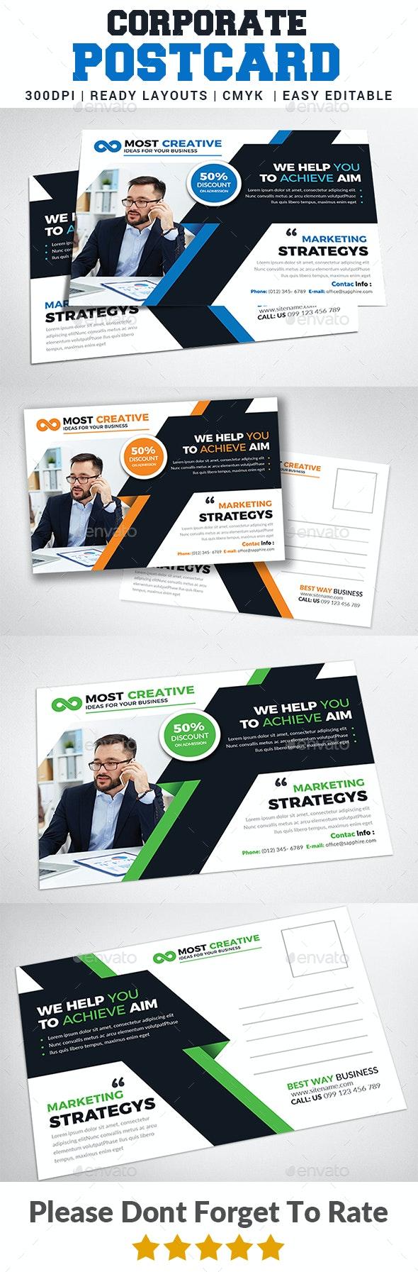 Corporate Postcard Print Templates - Cards & Invites Print Templates