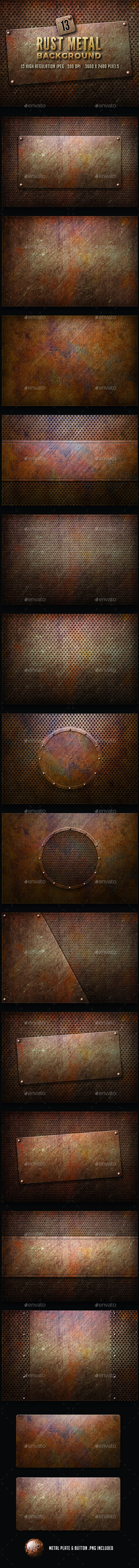 Rusty Metal Background - Backgrounds Graphics