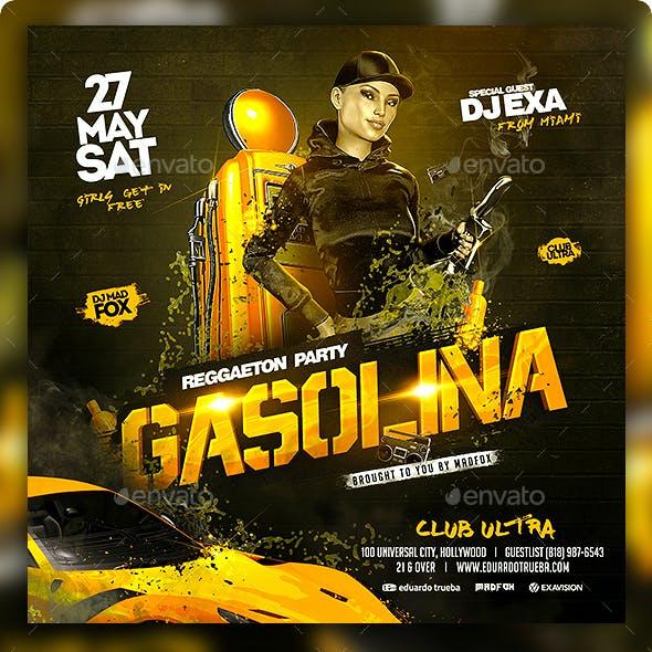 Gasolina Reggaeton Party Flyer