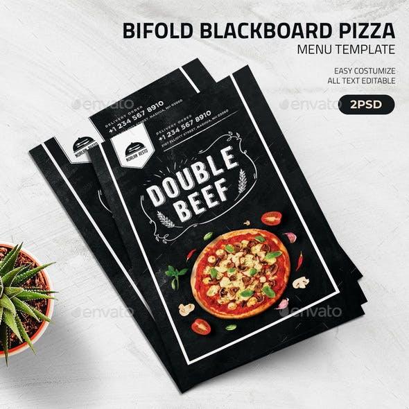 Bifold Blackboard Pizza Menu Template