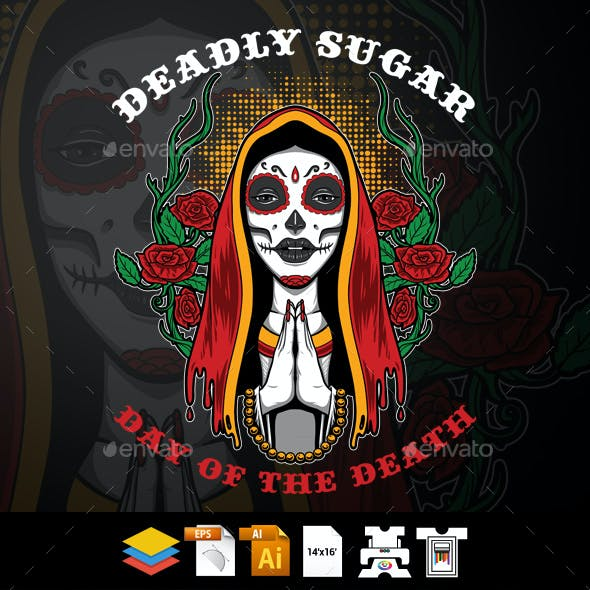 Deadly Sugar T-shirt Design