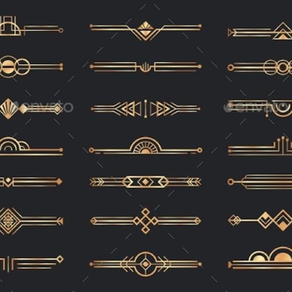 Golden Art Deco Dividers