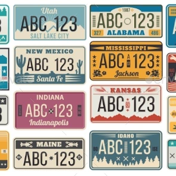 Car Number License Plate
