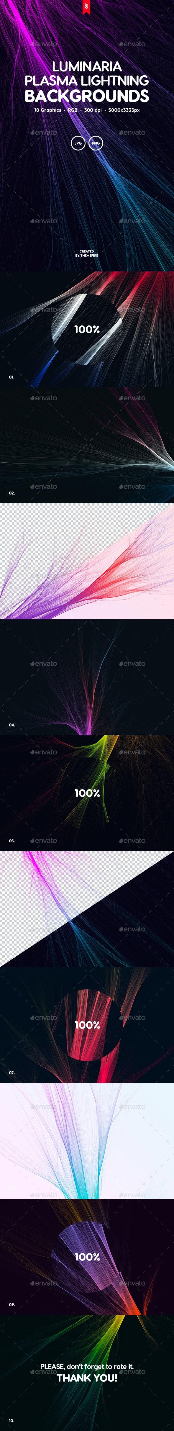 Luminaria - Plasma Lightning Background Set - Tech / Futuristic Backgrounds