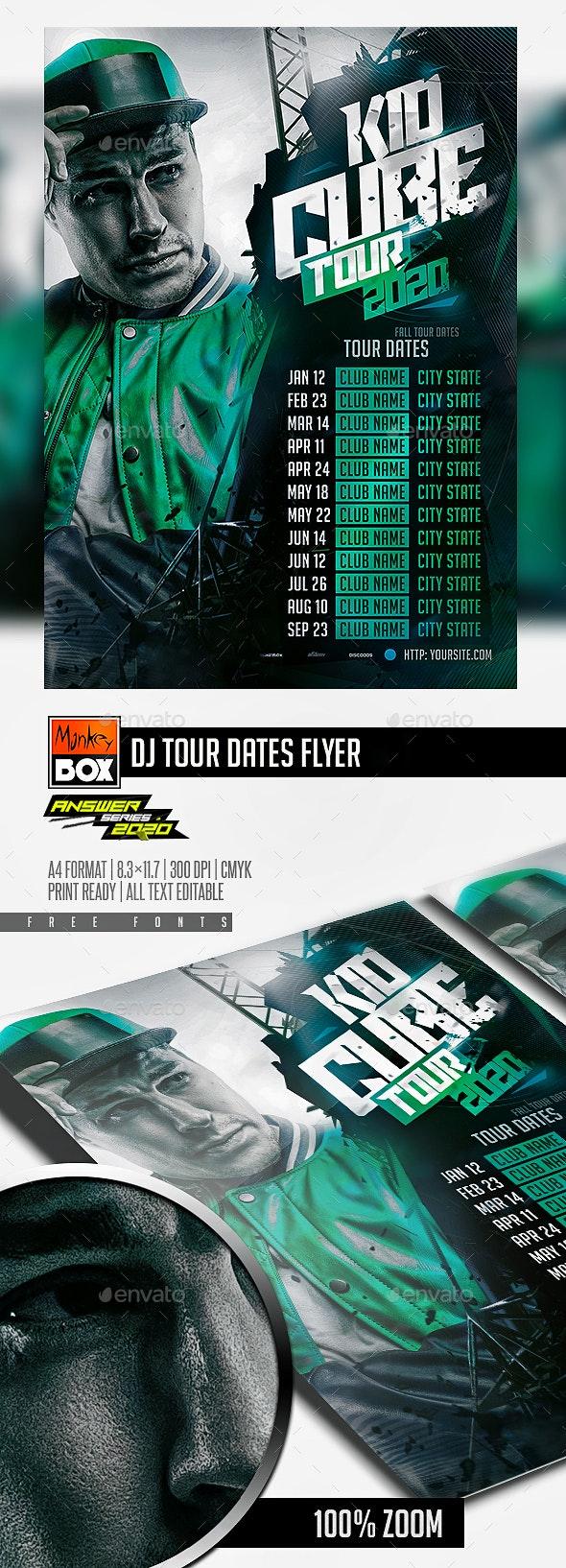 DJ Tour Dates Flyer - Concerts Events